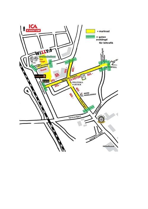 Karta över Knivsta marknad