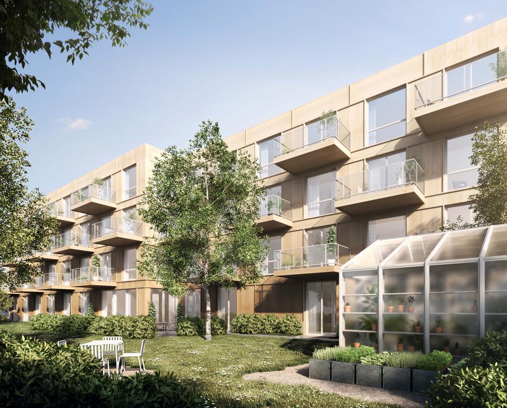 Visionsbild för byggemenskap Gården i Uppsala