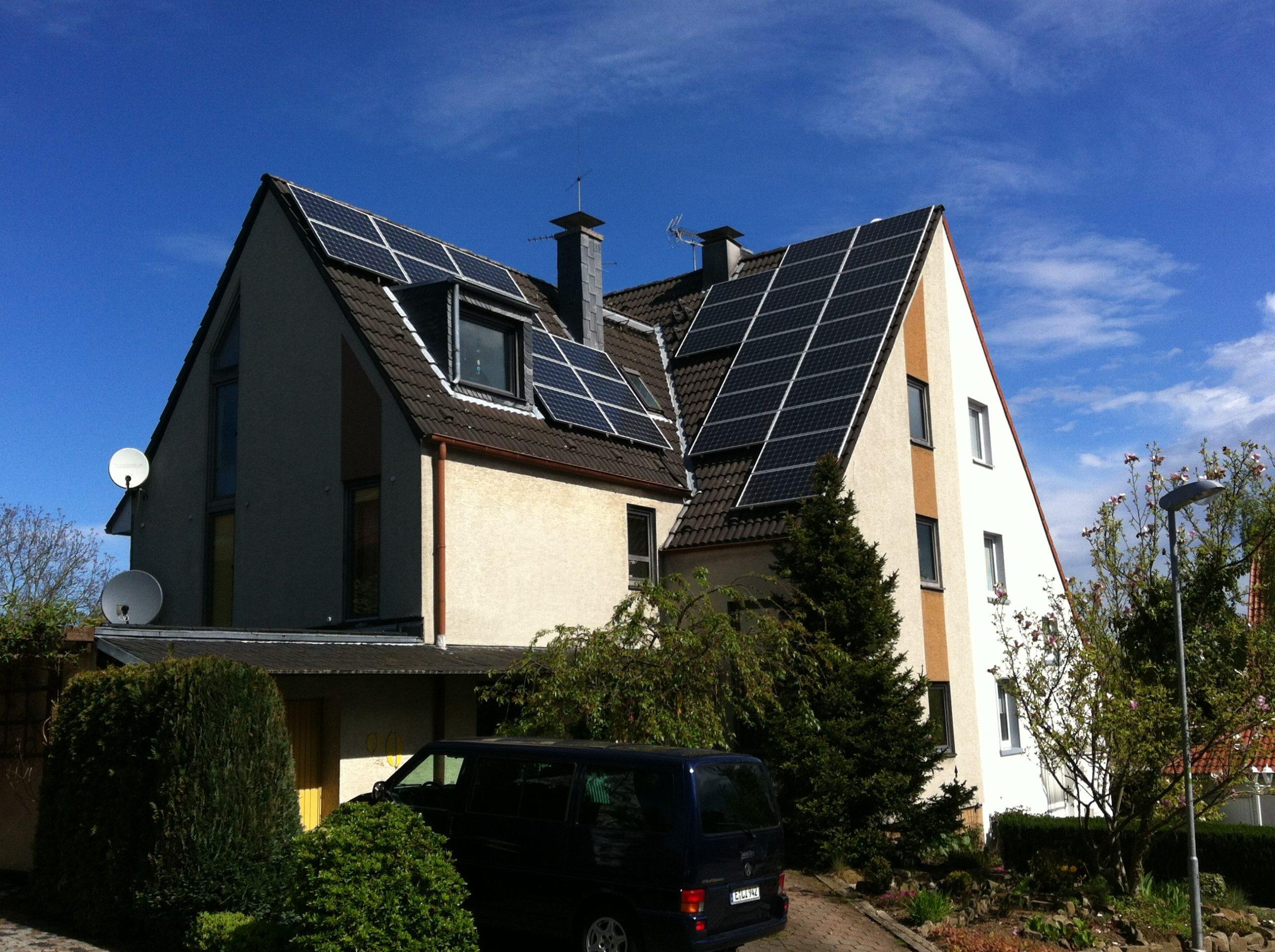 Villa med solceller